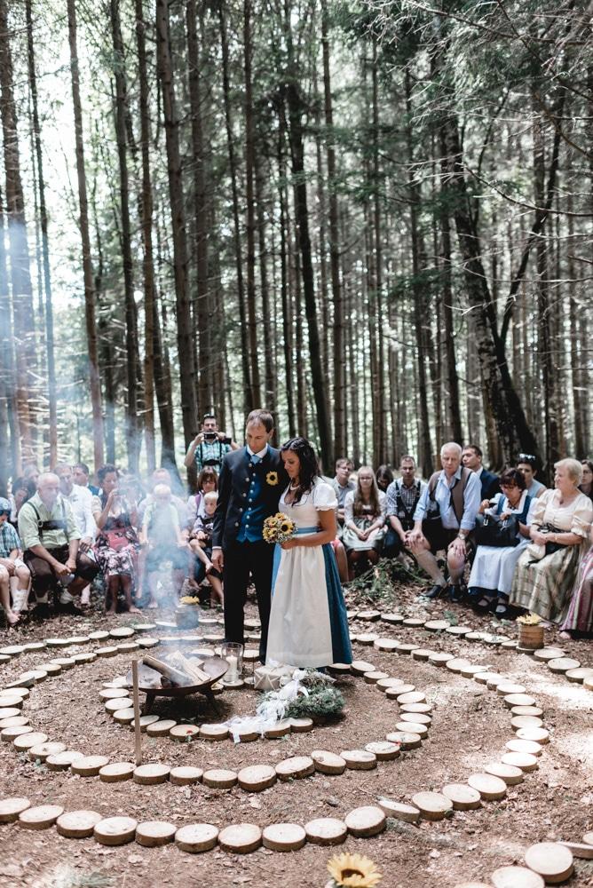 Schamanische Hochzeit Andrea Bernhard Greischbergerhof Neumarkt